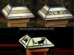 maine ornamental style glass solar post cap led cedar