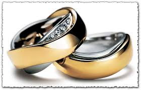 wedding gold rings gold ring vector