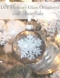 diy mercury glass ornament with snowflake tuft trim