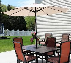 Lighted Patio Umbrella Rectangular Umbrella With Solar Lighted