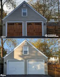 Overhead Garage Door Inc Chi Sted Steel Carriage House Doors 5200 Series With Accent