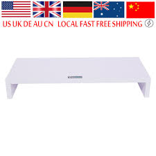 ecran bureau retourn wood desktop monitor stand lcd tv laptop rack computer screen riser