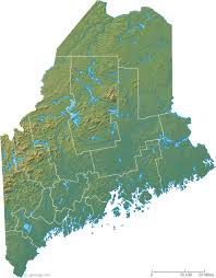 maine map with cities map of maine