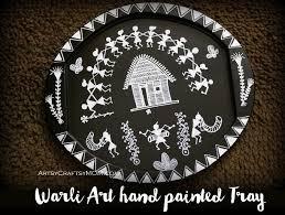 Warli Art Simple Designs How To Make A Warli Art Handpainted Tray Artsycraftsymom