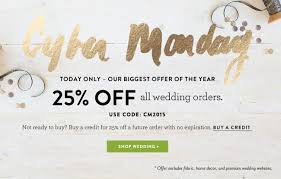 wedding deals cyber monday deals minted renttherunway decor
