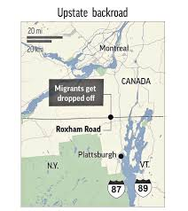 Back Road Maps Back Road To Hope Migrants Flood Canada At Remote Outpost The