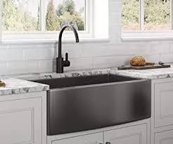 what size sink for 33 base cabinet ruvati gunmetal black matte stainless steel 33 inch apron front farmhouse kitchen sink single bowl rvh9733bl