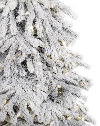 snowy artificial christmas tree christmas lights decoration