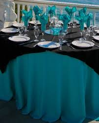 turquoise and black wedding decor mine would be and purple