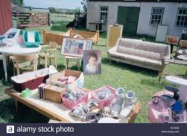 flea market in sweden things for sale stock photo royalty