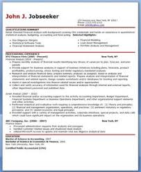 financial analyst resume example resume examples financial