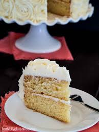 gluten free vanilla layer cake with rose decorating tutorial