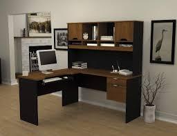 Black Glass L Shaped Computer Desk Furniture L Shaped Desk With Hutch For More Efficient Workspace