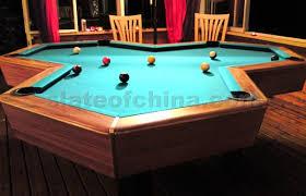 slate top pool table triljard pool tables triljard table hexagon shaped slates with two