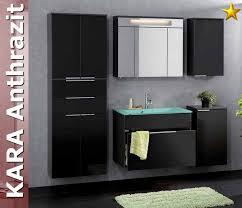 badezimmer fackelmann fackelmann badmöbel kara anthrazit set 6 mit glasbecken
