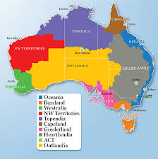 states australia map australia reinvented a nation divided according to its interests