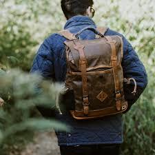Most Rugged Backpack Commuter Backpack Canvas U0026 Leather Bag Buffalo Jackson