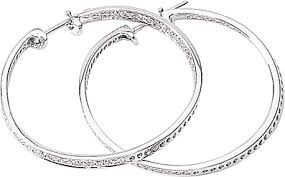 white gold hoops simon g 18k white gold hoop earrings with pave diamonds sg lp3504