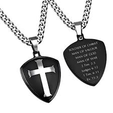 man cross necklace images Soldier of christ man of god man of war christian cross necklace jpg