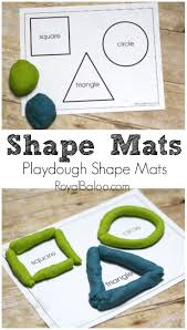 free printable shapes mats for playing with playdough preschool
