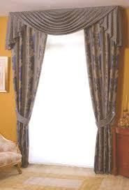 tende con drappeggio tapezzeria longo