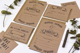 your own wedding invitations kraft write your own wedding invitation set by russet and gray