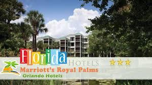 marriott u0027s royal palms orlando hotels florida youtube