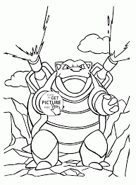 blastoise pokemon coloring pages for kids pokemon characters
