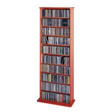 Cd And Dvd Storage Cabinet With Doors Oak Finish Cherry Wood Dvd Media Storage Cabinet Bellacor