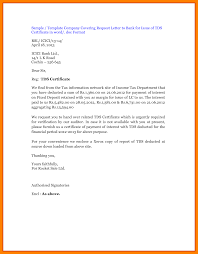 ideas of how to write tds certificate request letter bank also
