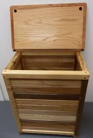 Wicker Clothes Hamper With Lid Wood Hampers Storage Gallery Of Wood Items