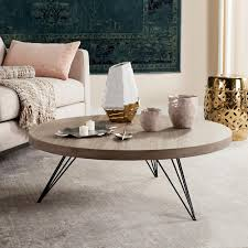 mid century round coffee table safavieh mansel light oak black retro mid century round coffee table