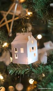 diy paper house ornament by lia griffith project