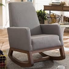Gray Rocking Chair Wholesale Interiors Baxton Studio Rocking Chair U0026 Reviews Wayfair