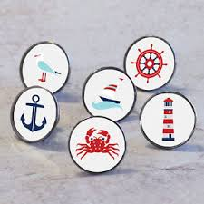 themed door knobs nautical at sea boat themed cupboard drawer handle pulls cabinet