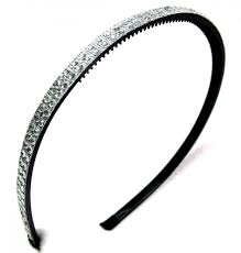 silver headband bling headband