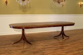 Rectangular Pedestal Table Large Oval Mahogany Double Pedestal Dining Room Table With Leaves