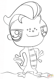 littlest pet shop lizard coloring page free printable coloring pages