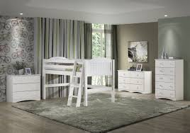 White Bedroom Chest Of Drawers By Loft Junior Loft Bed Twin Panel Style White
