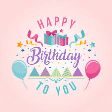 Happy Birthday Theme Happy Birthday Card Illustration Vector Free