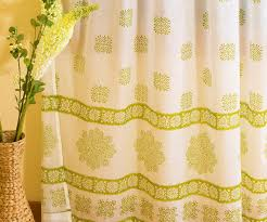 Lime Green Sheer Curtains White Olive Green Geometric Gypsy Sheer Curtain