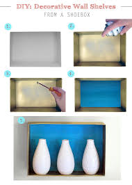 How To Build Your Own Bookshelf Diy Wall Shelves From A Shoebox