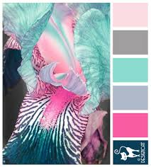 pink color combination pink u0026 blue iris teal blue steel sky grey blush pink