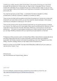 military to civilian resume sample u2013 topshoppingnetwork com