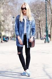 how to wear an oversized denim jacket whowhatwear uk