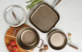 anolon advanced umber 12 piece hard anodized nonstick cookware
