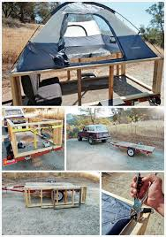 he put a tent on a trailer and made a practical camper diy tenttent trailerstent campersutility