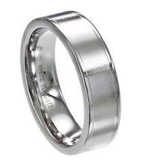 7mm ring white tungsten men s wedding ring smooth matte flat profile 7mm