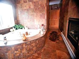 cool image of bathroom decoration using dark brown iron candle