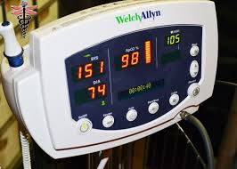 welch allyn 53nto vital signs monitor 300 series spo2 temp nibp w